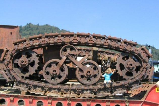 Ходовая часть трактора Хорнсби сохранилась до наших дней