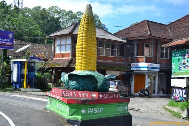 Памятник кукурузе на Бали