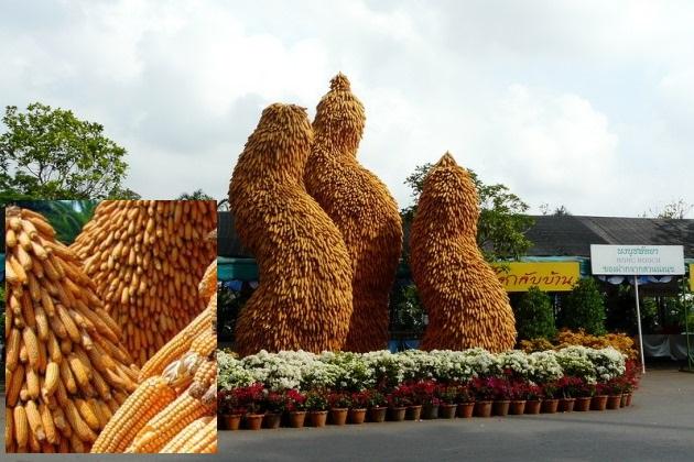 Скульптуры из кукурузы (парк Нонг Нуч в Таиланде)