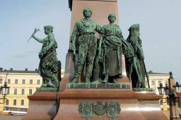 Фрагмент памятника Александру II в Хельсинки
