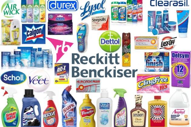 Компания Reckitt Benckiser известна своими брендами