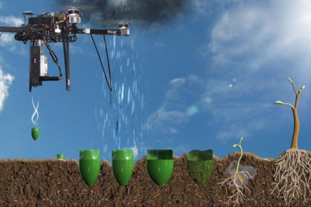 Дрон-минер тоже сможет сажать деревья