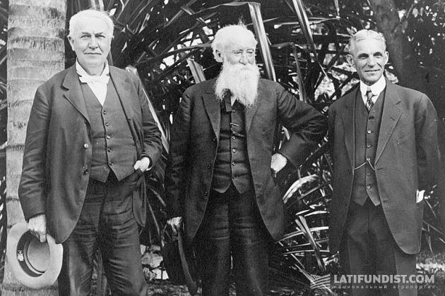 Эдисон с Джоном Берроузом и Генри Фордом