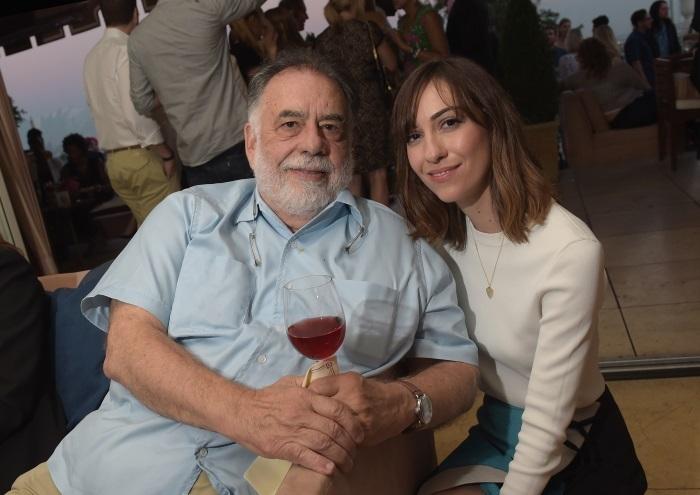 Фрэнсис Форд Коппола и Джиа Коппола на презентации вина в Калифорнии
