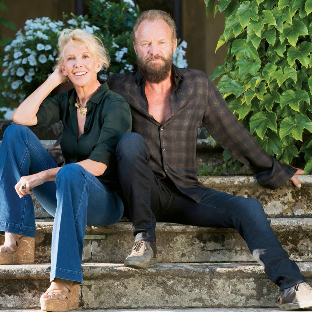 Стинг с супругой Труди Стайлер