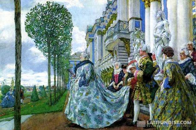 Е. Лансере. «Елизавета Петровна в Царском Селе» (1905)
