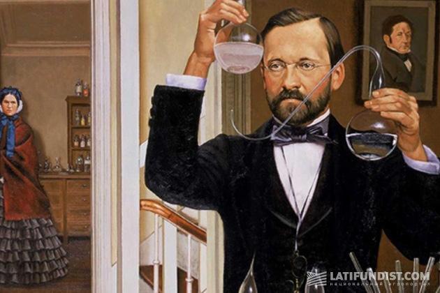Луи Пастер в домашней лаборатории