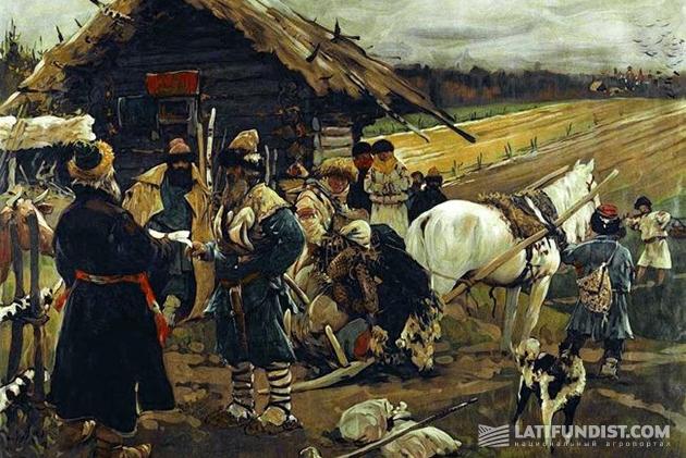 Сергей Иванов. Юрьев день. 1908 год