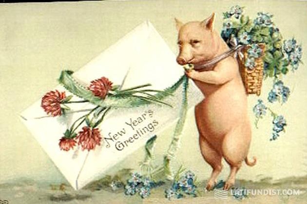 Новогодняя открытка 1958 года