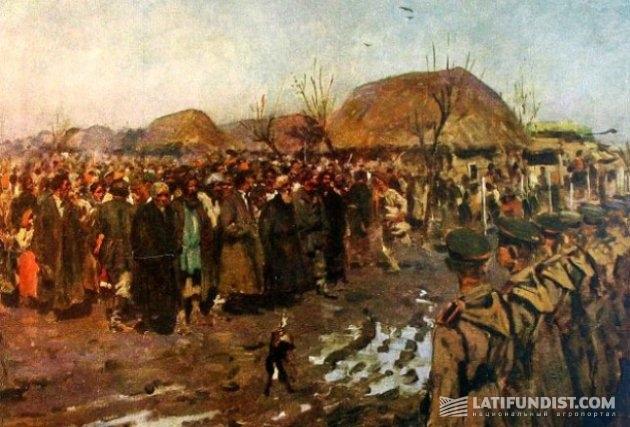 Бунт в деревне. С. В. Иванов. 1889 г.