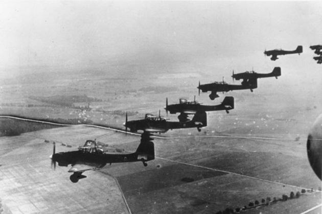 . 1 сентября 1939 года. Самолеты Luftwaffe над Польшей