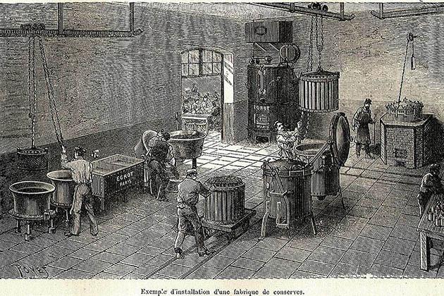 Примерно так выглядели первые консервные фабрики