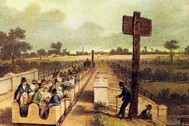 Первый междугородный пассажирский поезд