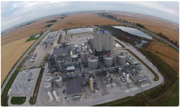 Биоперерабатывающий завод DuPont будет производить биотопливо из кукурузных кормовых отходов, собранных в радиусе 30 миль от завода