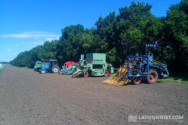 Для обработки посевов льна требуется специальная сельхозтехника