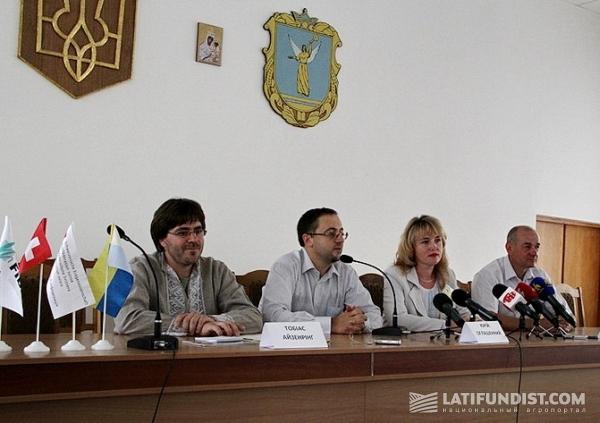 Брифинг по поводу представления новой аграрной ТМ «Смак Українських Карпат» в городе Тлумач