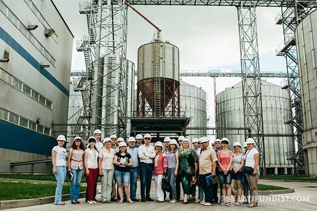 На территории «Глобинского перерабатывающего завода»