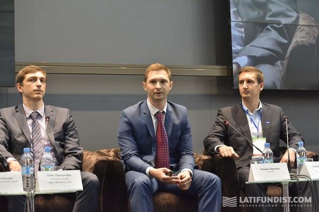 Роман Хрипко, менеджер по развитию бизнеса компании «Syngenta (в центре)