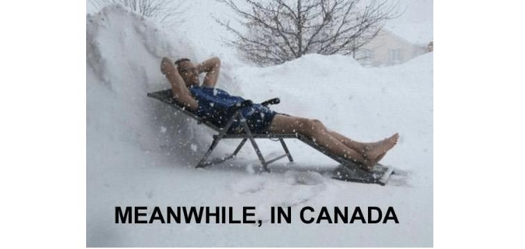 В это время в Канаде