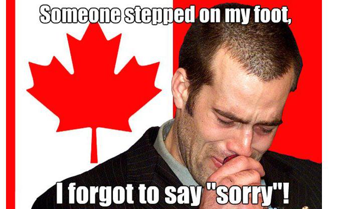 Кто-то наступил мне на ногу, а я забыл извиниться