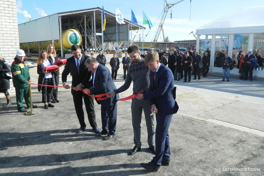 Торжественное открытие резервуаров «Терминал-УСПП»