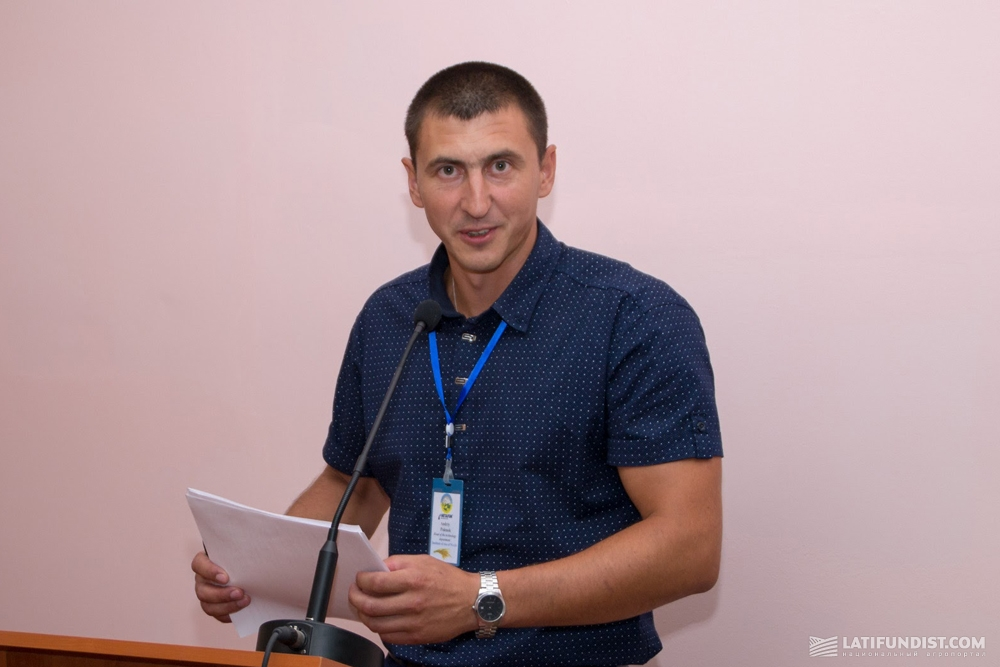 Andriy Polenok, Head of the Technology Department of the Institute of rice