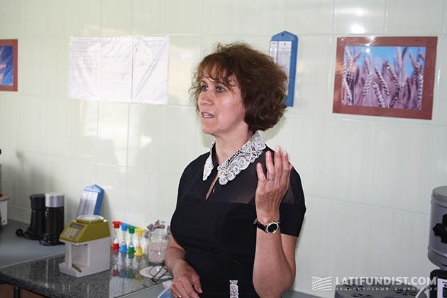 Людмила Гроцкая, начальник производственной лаборатории завода
