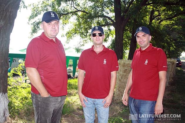 Наши попутчики — представители голландской семенной компании Bejo — Игорь Альбертович, Роман и
