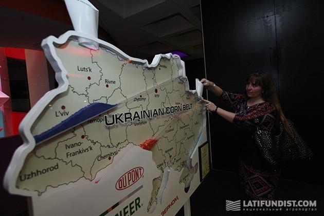 Интерактивная карта распространения  кукурузы, подсолнечника и рапса в Украине