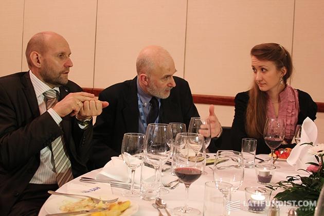 Ужин с аграрными министрами Германии и Эстонии