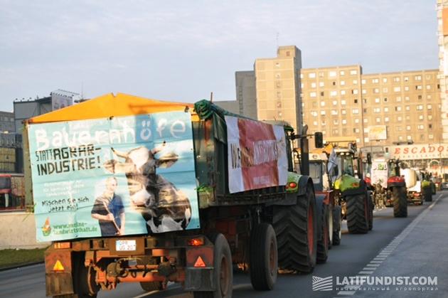 Протесты фермеров в Берлине
