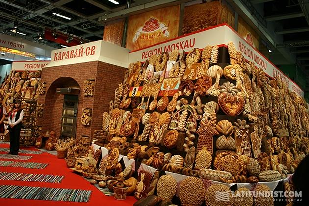 Произведения искусства из хлеба: Российский стенд на Зеленой неделе