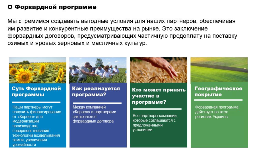 Форвардная программа — один из сервисов Open Agribusiness