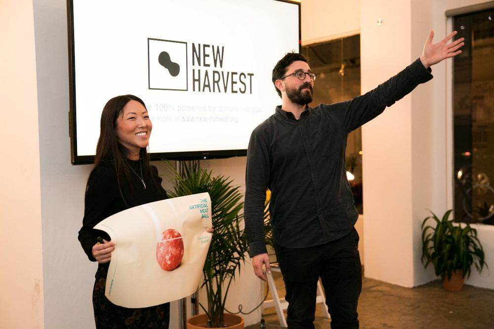 Эрин Ким на презентации разработок New Harvest