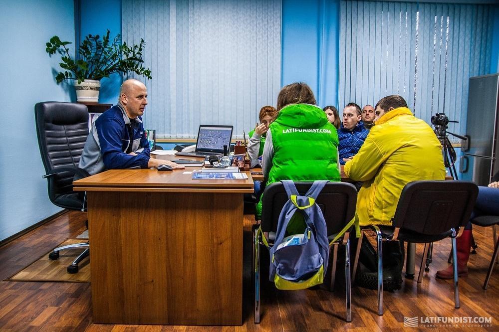 Владимир Лаврик рассказывает АгроЭкспедиторам о своей работе