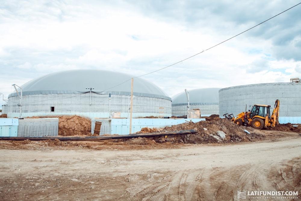 Стройка биогазового комплекса