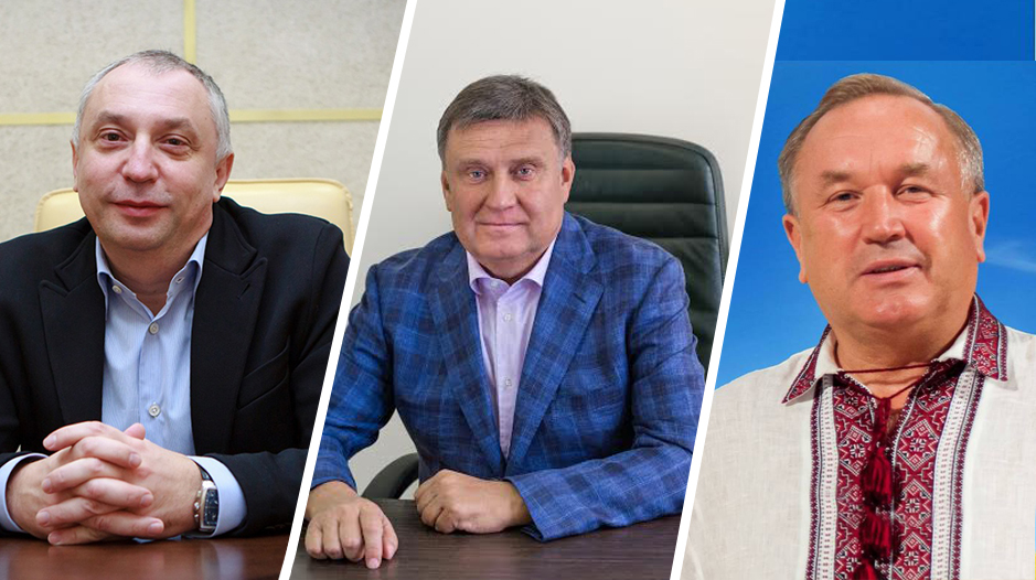 Слева направо: Яков Грибов, Виктор Купавцев, Виктор Кияновский