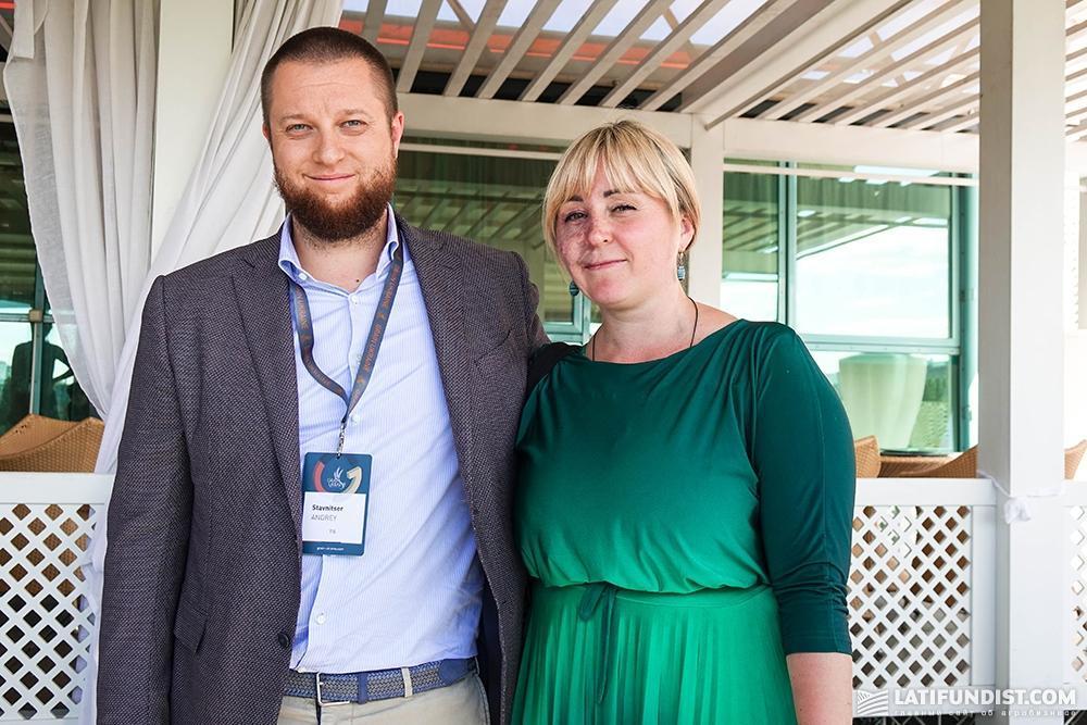 Андрей Ставницер, акционер и учредитель компаний «ТИС» и «МВ Карго», и Наталья Билоусова, главный редактор сайта AgroPolit.com