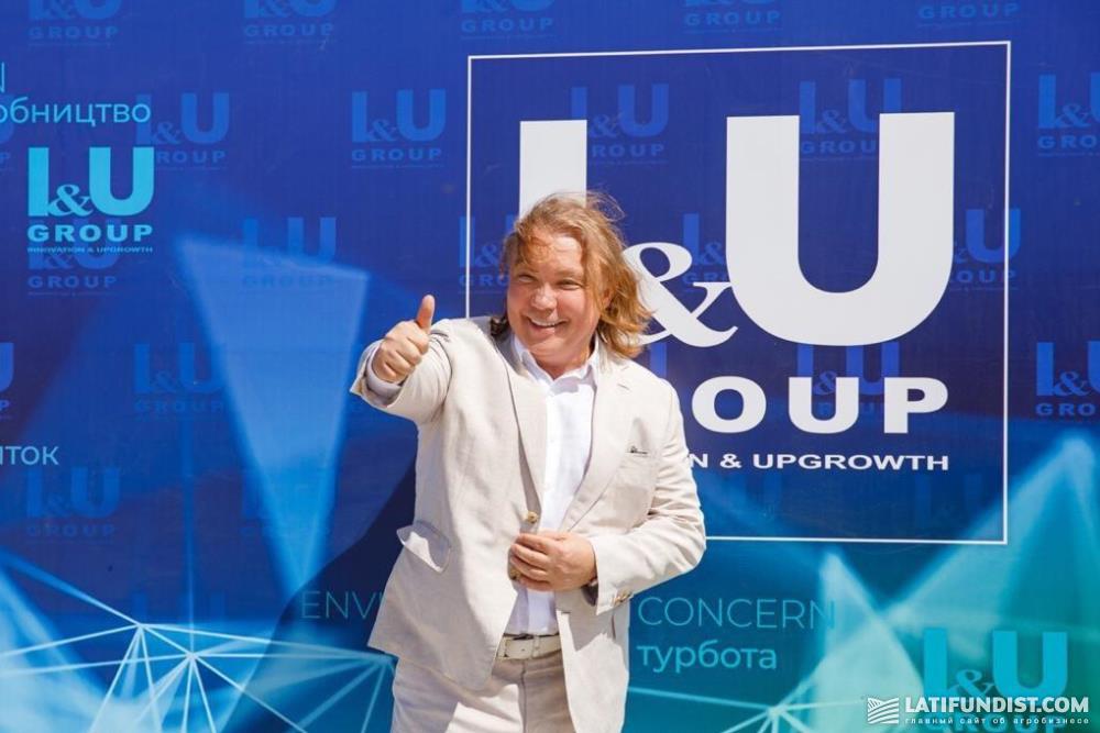 Сергей Тарасов на открытии биогазового завода
