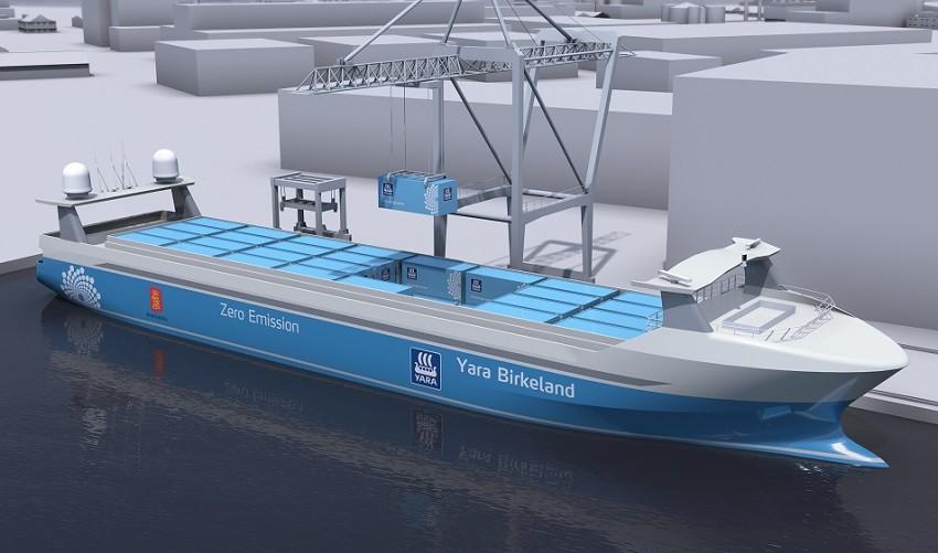 Модель контейнеровоза Yara Birkeland