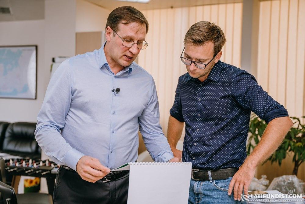 Александр Фоменко и Константин Ткаченко, главный редактор Latifundist.com