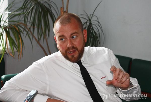 Йенс Бруно, директор по связям с инвесторами и бизнес контролер  компании  Grain Alliance