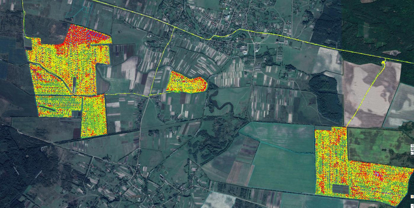 Карта урожайности