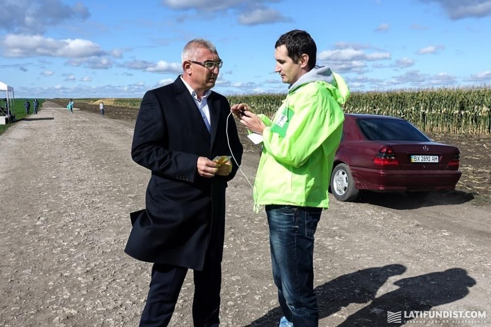 Иван Чайковский, генеральный директор корпорации «Агропродсервис» и Алексей Бесклетко, журналист Latifundist.com