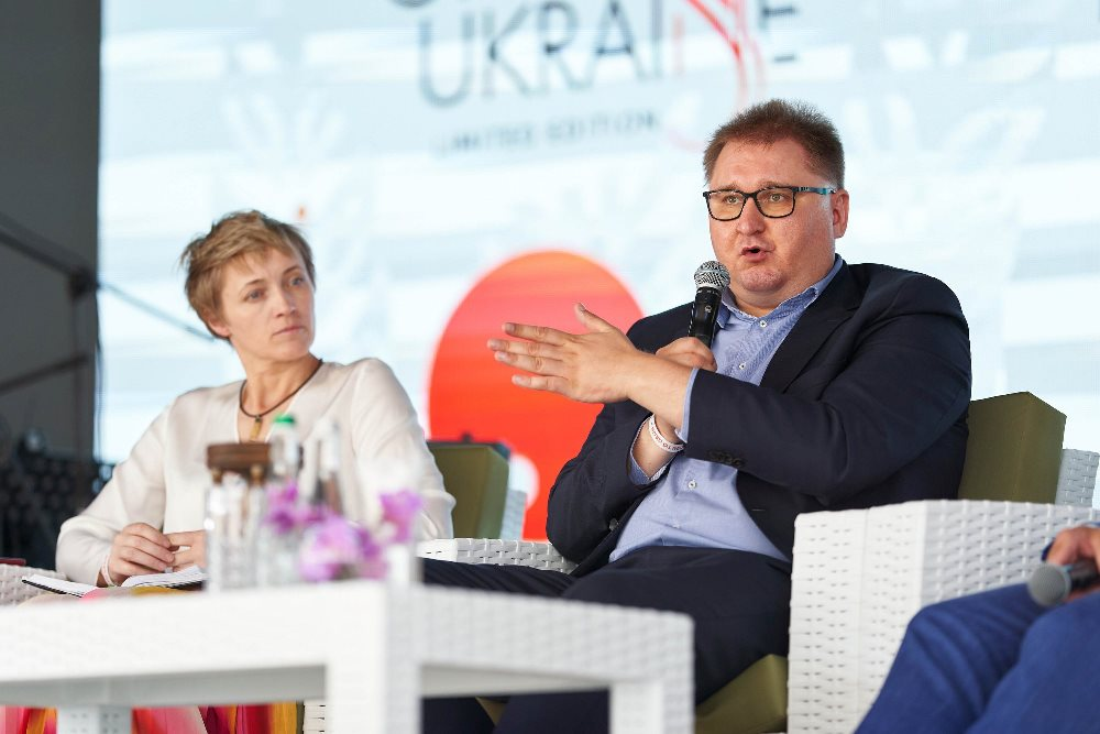 Ольга Трофимцева и Тарас Качка на конференции Grain Ukraine 2020