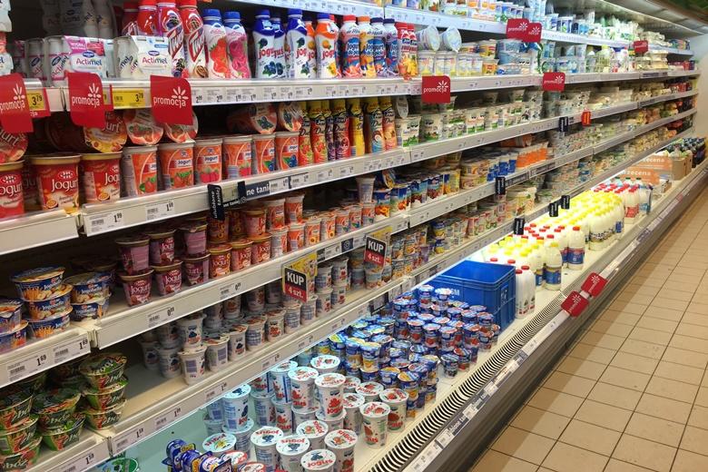 Молочная продукция производства Польши