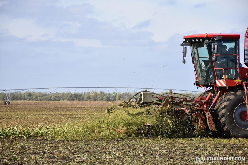 Уборка сахарной свеклы в поле «Юкрейниан Шугар Компани»