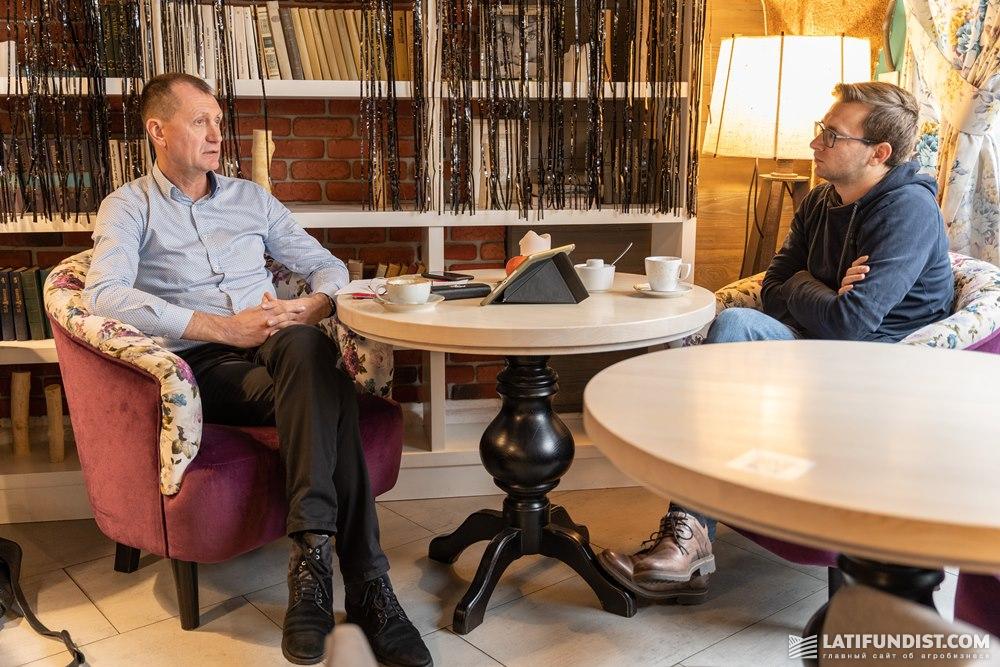 Владимир Зинченко и Константин Ткаченко, главный редактор Latifundist.com