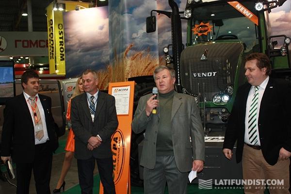 Презентация трактора FENDT 936 Vario Power в ходе выставки «Зерновые технологии 2013»