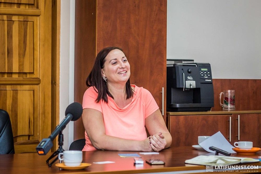 Яна Днистярская, директор социального фонда «Развитие села», созданного при агрохолдинге